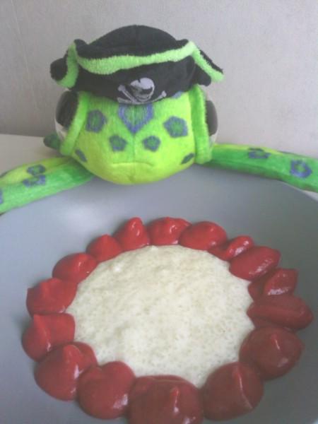 Délice de tapioca aux fruits rouges