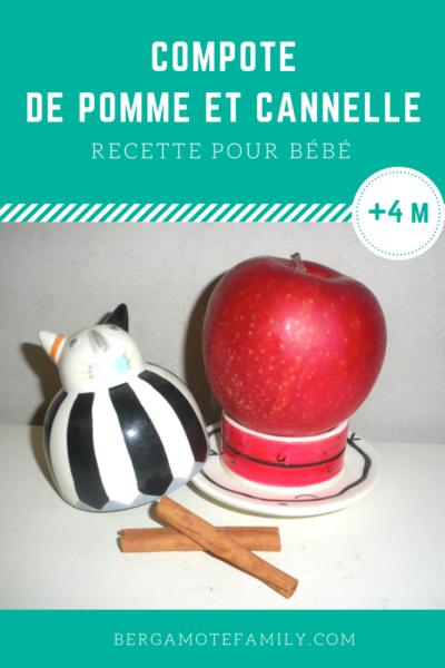 compote de pomme la cannelle d s 4 6 mois bergamote family. Black Bedroom Furniture Sets. Home Design Ideas