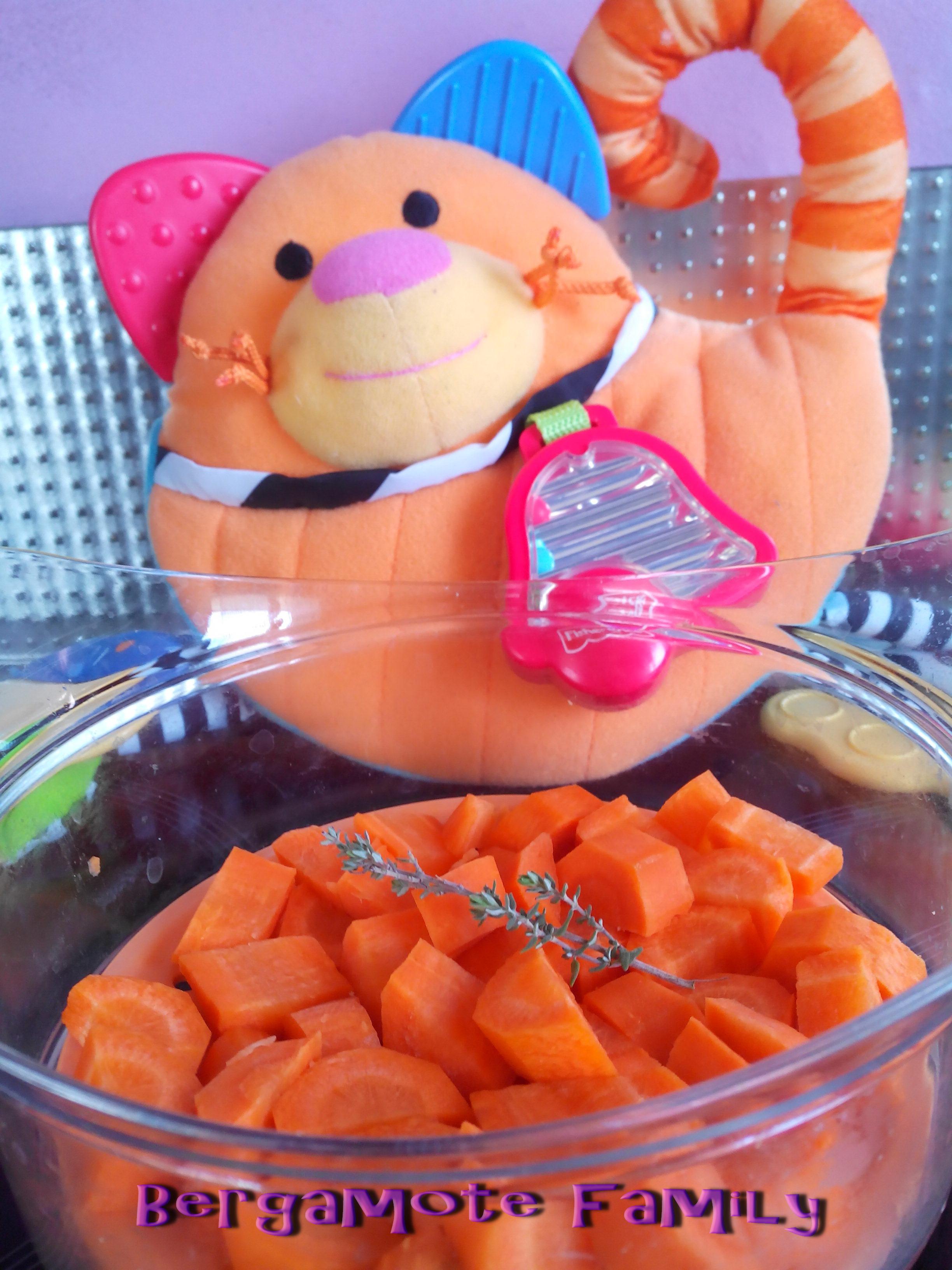 écrasé carotte au thym du jardin