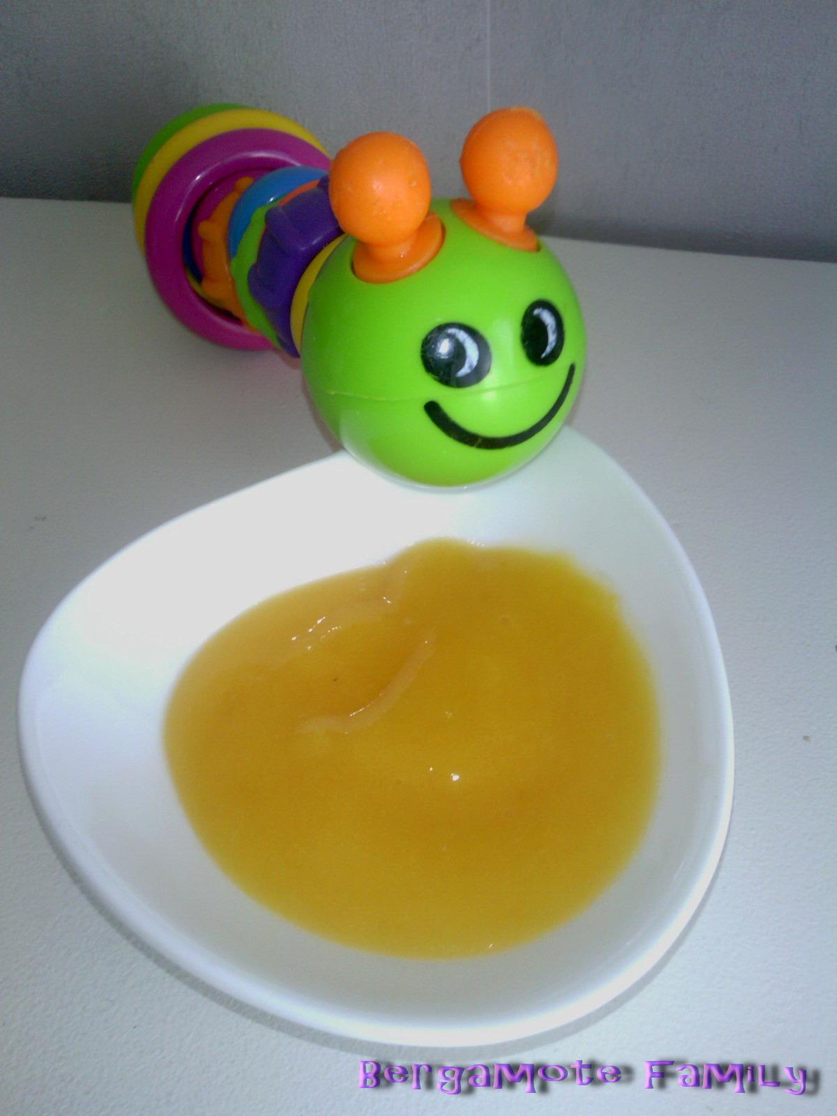 Compote d couverte de l 39 abricot d s 6 mois bergamote - Temps de conservation compote maison pour bebe ...