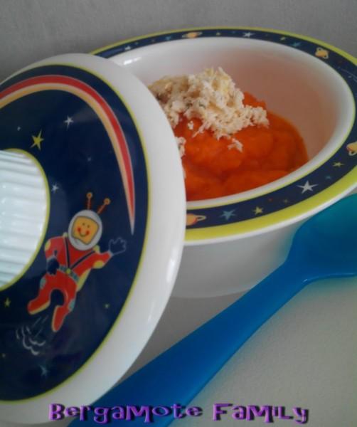 papillote poulet-thym et purée de navet carotte