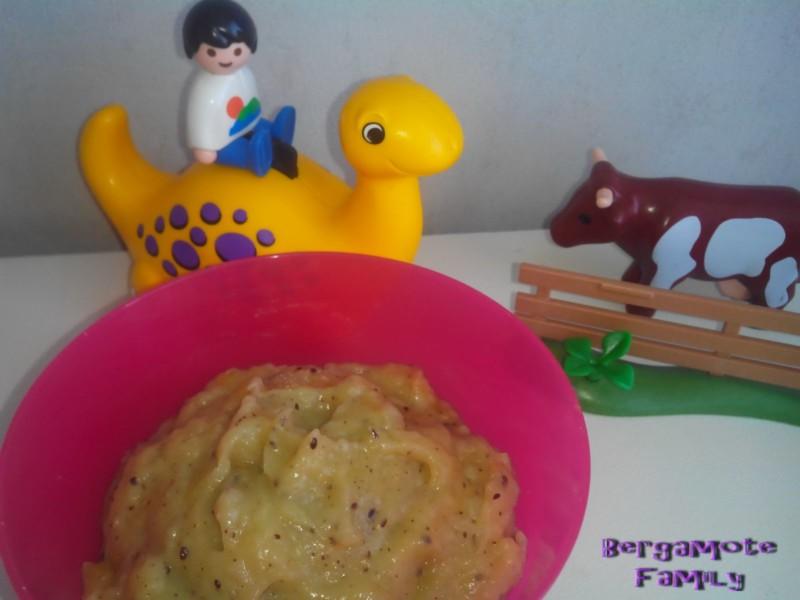 compote de banane kiwi vanille