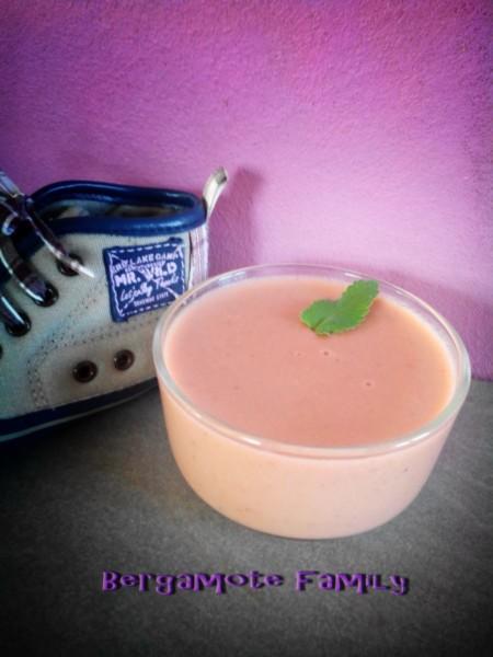 Crème de fraise à la menthe