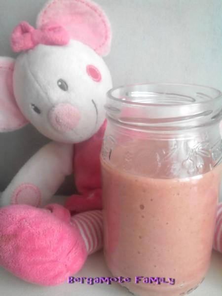 mousse fraise banane pour bébé