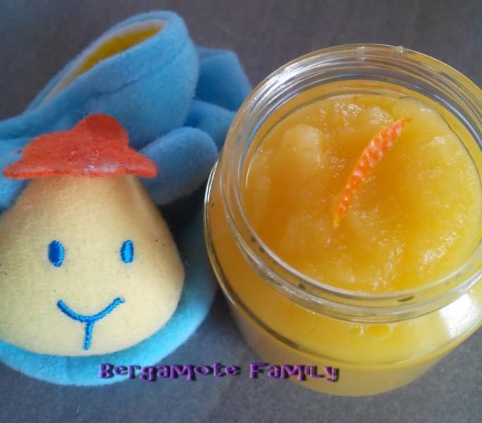 pomme jus zeste clémentine vanille