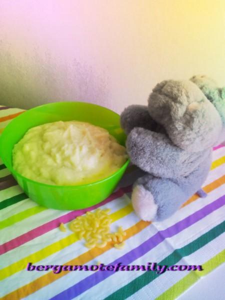 Purée de nouilles à la courgette