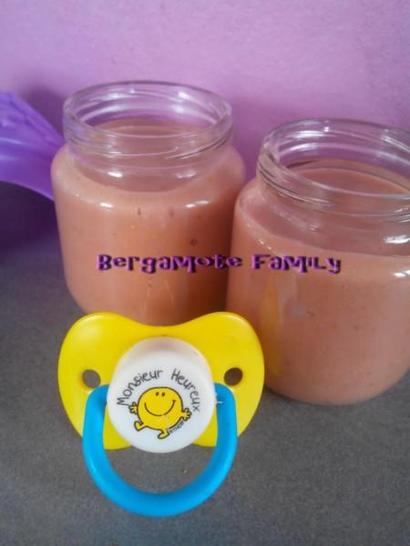 compote banane fraise orange