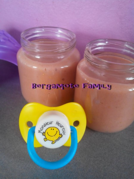 compote banane fraise orange
