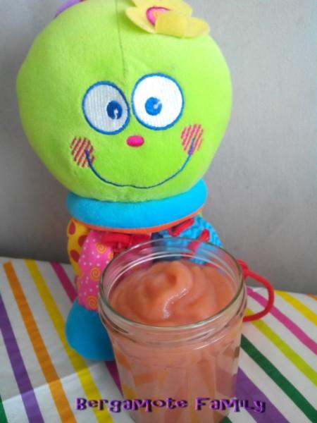 compote pomme fraise sucre vanillé