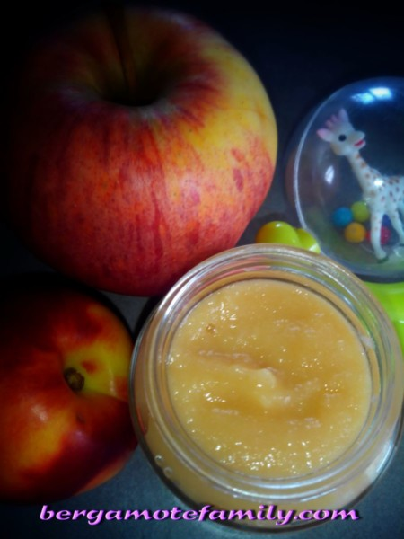 compote pomme nectarine