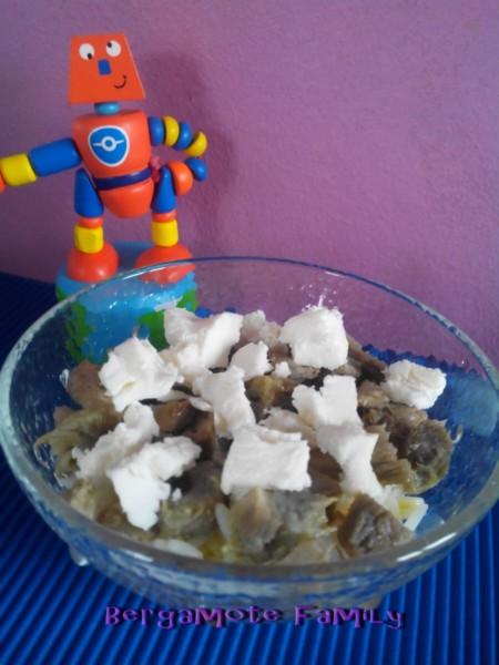 salade de riz artichaut chèvre