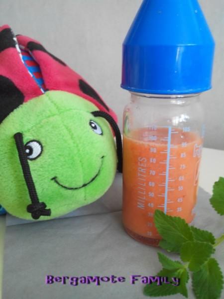 smoothie orange fraise menthe