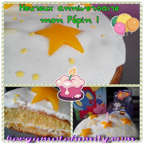 gâteau éoilé anniversaire