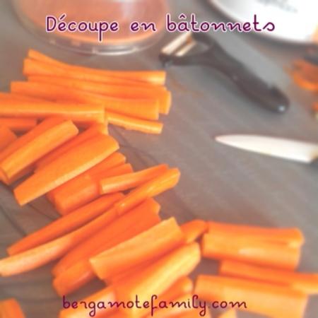 B tonnets de carottes cuites croquer bergamote family - Robot pour raper les carottes ...