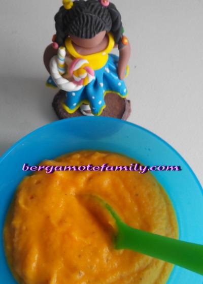 crème de riz à l'artichaud carotte basilic