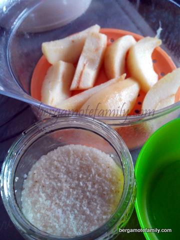 Compotée de poire au fonio préparation