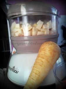 cuisson du panais au Nutribaby