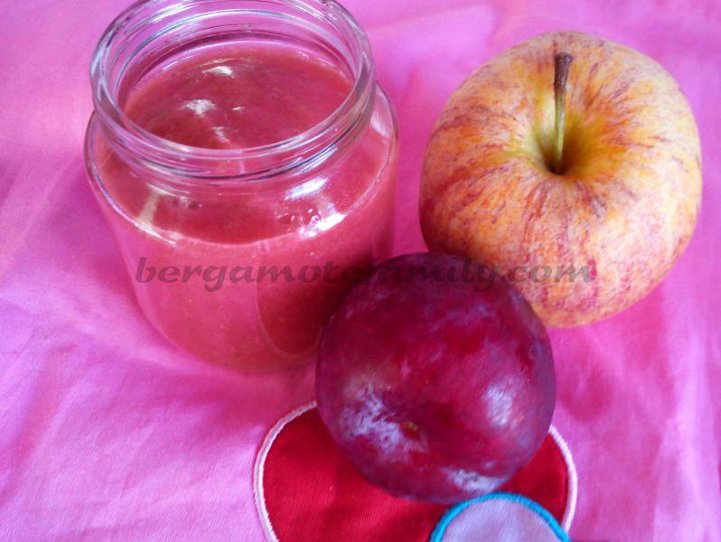 compote de prune et pomme bébé - bergamote family
