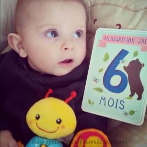 6 mois bébé bergamote