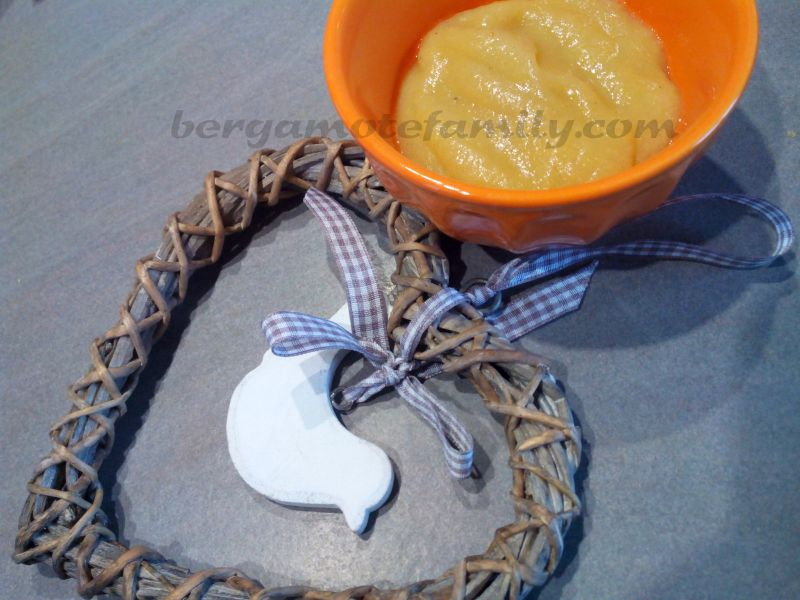 compote de kaki et poire à la vanille - Bergamote Family