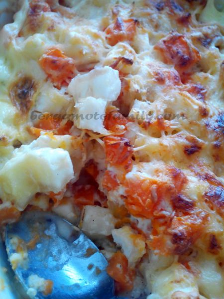 gratin de manioc et patate douce - Bergamote Family