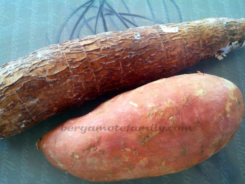 Gratin de manioc et patate douce - Bergamote Family on