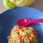 risotto de carotte curry vache qui rit 4