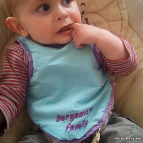 bébé bergamote a 9 mois