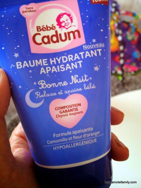 baume bonne nuit bébé cadum - bergamote family