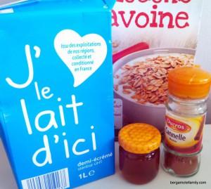 porridge bébé miel cannelle - bergamote family