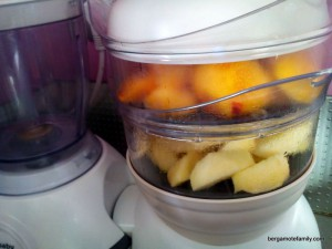 compote de pêche et pomme - bergamote family