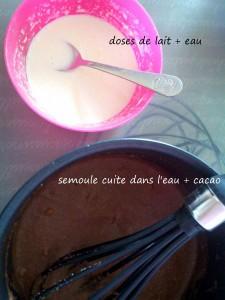 semoule lait infantile cacao - bergamote family