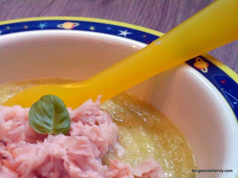recette bébé merlan semoule courgette basilic - bergamote family (2)
