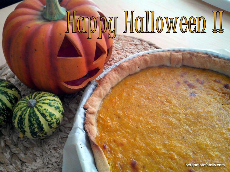 tarte au potiron halloween - bergamote family