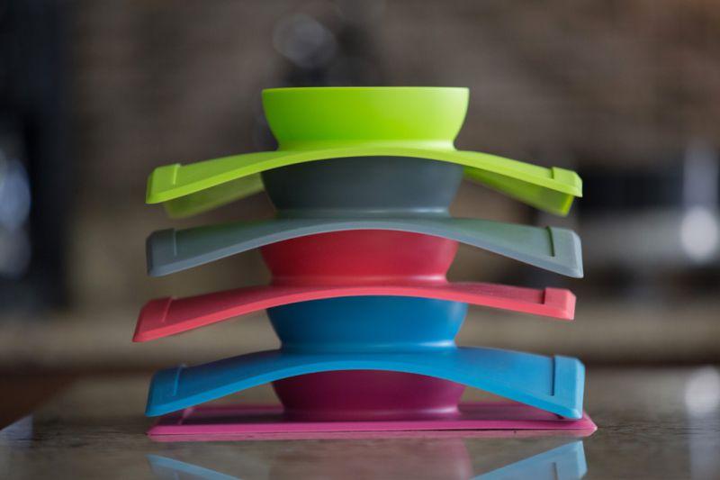 happy bowl stacking