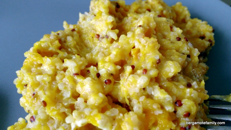 Quinoa au potiron pour b b fa on risotto bergamote family for Cuisiner quinoa