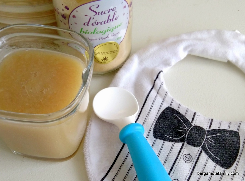 compote de poire sucre d'érable - bergamote family (2)