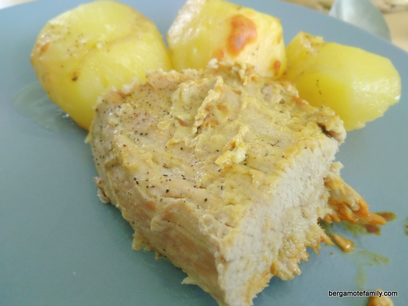 Rouelle de jambon de porc la moutarde omnicuiseur bergamote family - Cuisiner la rouelle de porc ...