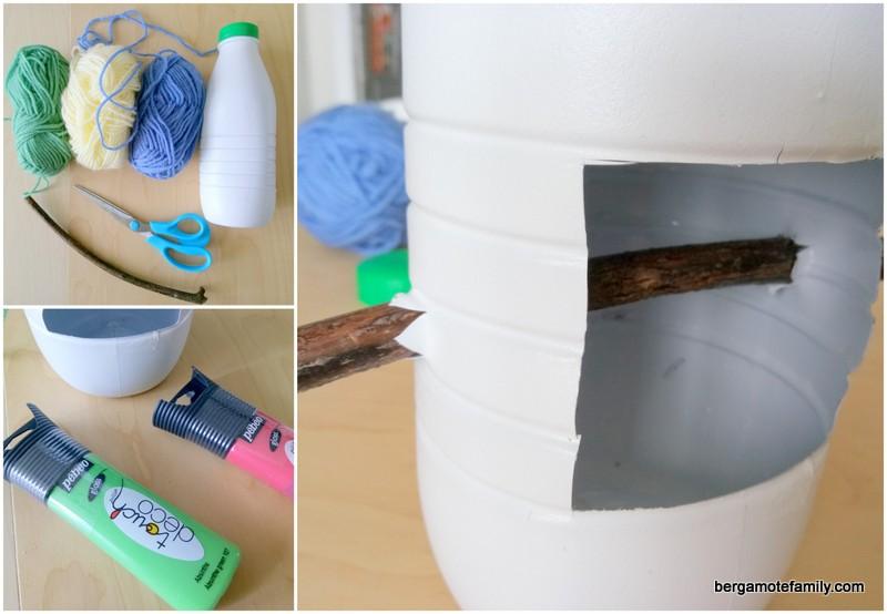 diy recyclage une mangeoire pour les oiseaux bergamote family. Black Bedroom Furniture Sets. Home Design Ideas