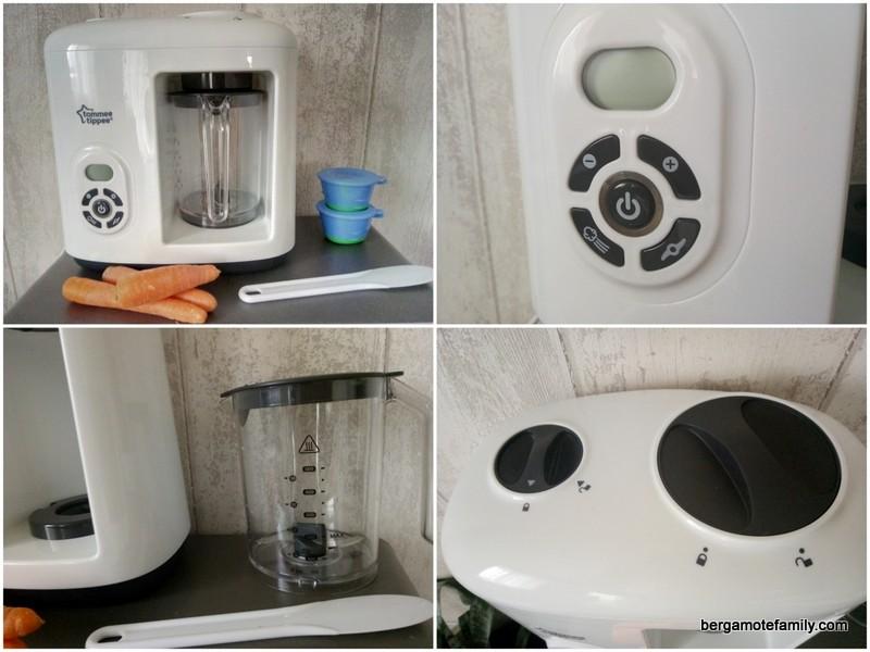 zoom sur le robot cuiseur mixeur d 39 aliments pour b b tommee tippee bergamote family. Black Bedroom Furniture Sets. Home Design Ideas