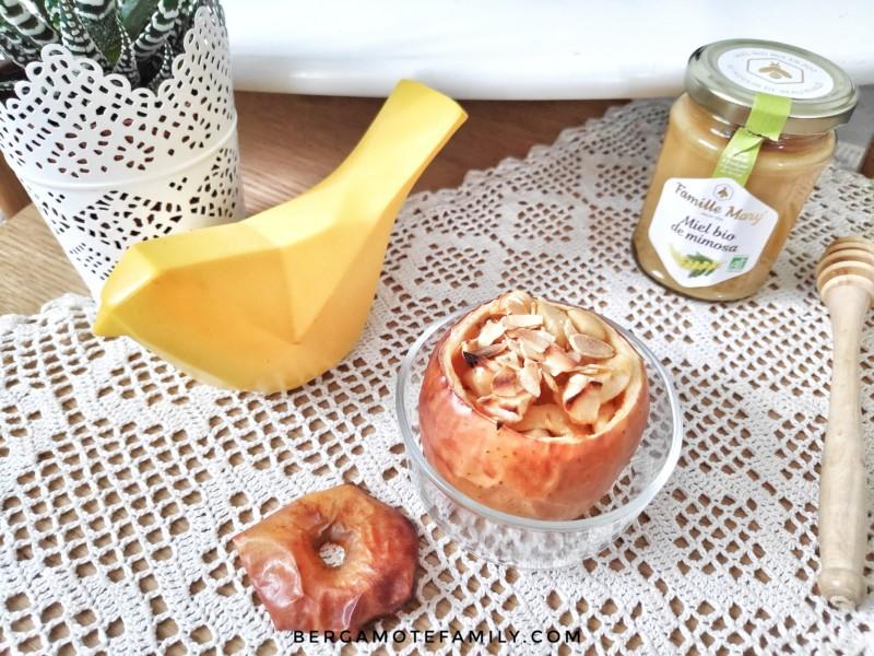 recette de pomme au miel au four facile à réaliser - recette pour bébé plus de 12 mois, enfants, famille - bergamote family