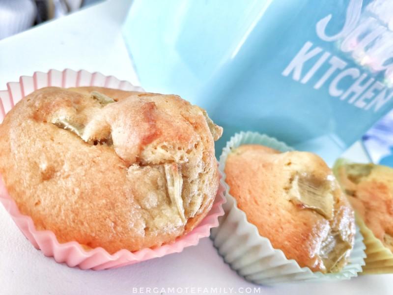 Recette de muffins à la rhubarbe sans beurre avec calcul de l'apport en glucides (diabétique) - bergamote family