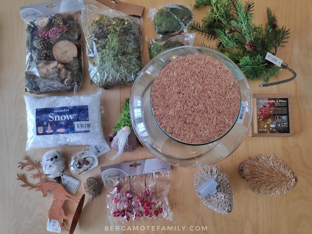 Matériel pour la réalisation d'un Noëlarium avec botanic